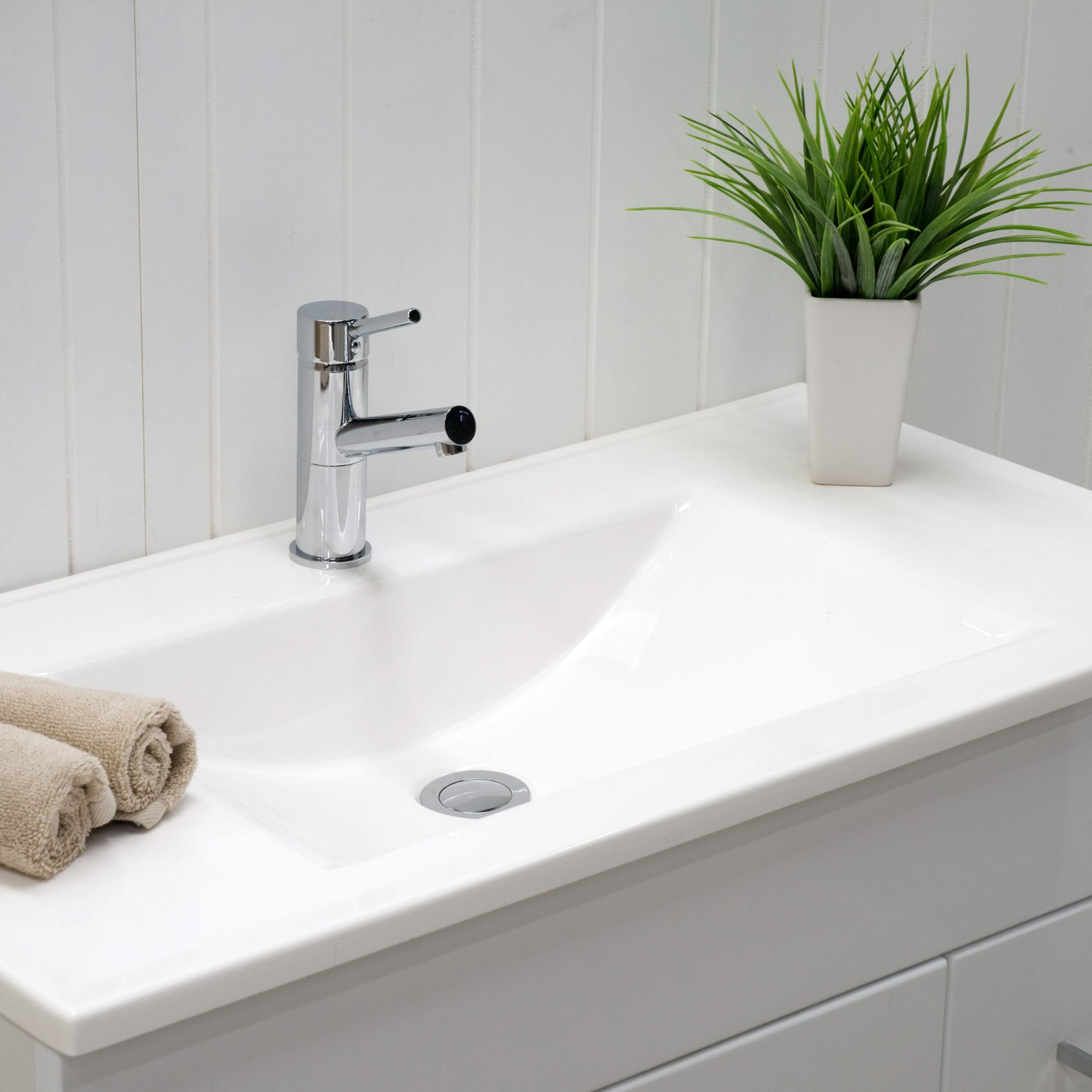 Ceramic Single Integrated Sink And Vanity Top