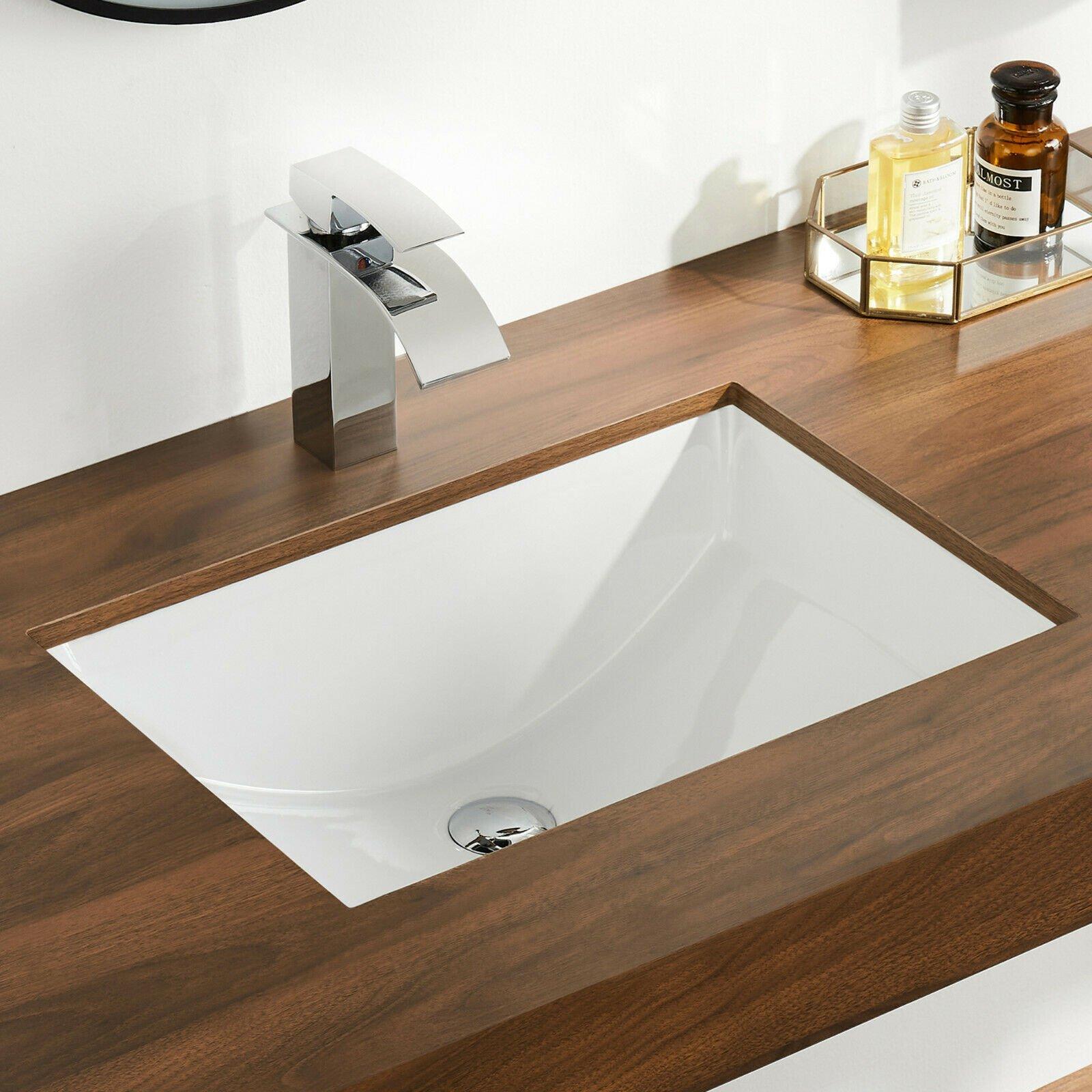 Ceramic Undermount Bathroom Sinks