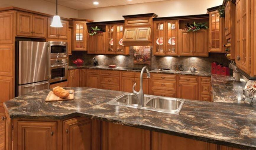 Mocha Dark Glaze Framed Rta Kitchen, Mocha Kitchen Cabinets With Granite