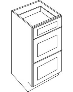 "Concord Victoria White - 18"" Drawer Base Cabinet"