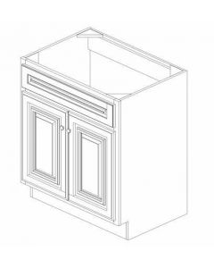 "K-Series Cinnamon Glaze - Vanities, No Drawers-30""WX21""DX34-1/2""H"