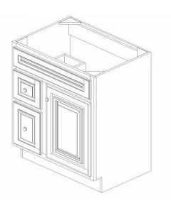 "K-Series Cinnamon Glaze - Vanities, -30""WX21""DX34-1/2""H Drawer Left"