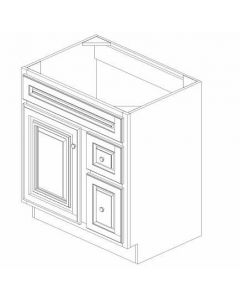 "K-Series Cinnamon Glaze - Vanities, -30""WX21""DX34-1/2""H Drawer Right"