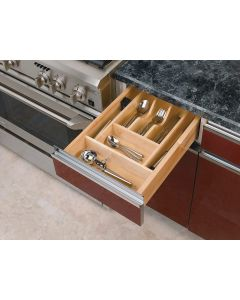 "TRIMMABLE WOOD CUTLERY TRAY 20 5/8"" TO 14 1/4"""
