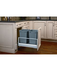 DOUBLE 35 QT BOTTOM MOUNT W/ REV-A-MOTION SLIDES ALUMINUM FRAME
