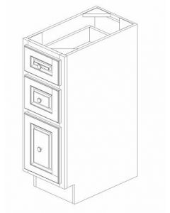 "K-Series Cinnamon Glaze - Vanity Drawer Pack-12""WX21""DX34-1/2""H"