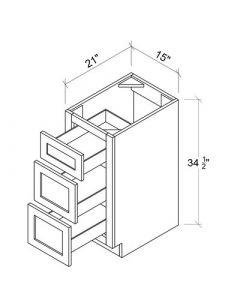 "Ice White Shaker - Vanity Drawer Pack-15""WX21""DX34-1/2""H"