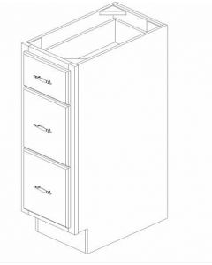 "Aspen White Vanity- 3 Drawer Base 18'WX21""Dx34 1/2""H"