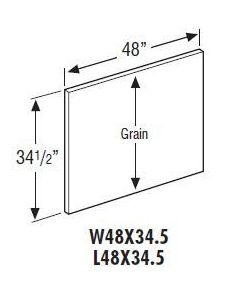 Hickory Shaker Rustic Premium-W48X34.5