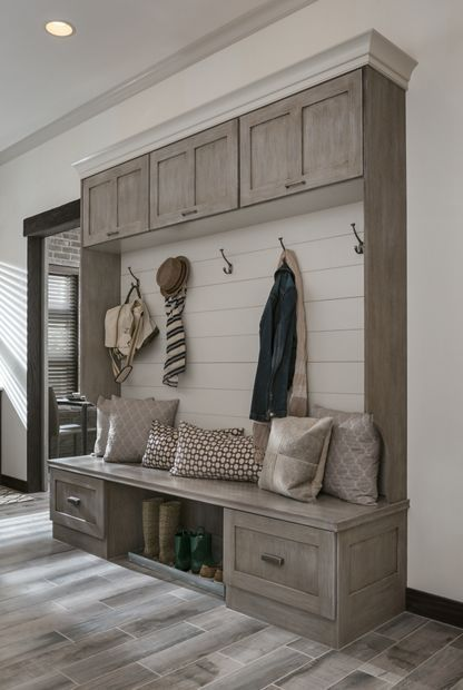 Entryway Seating and Storage Cabinetry