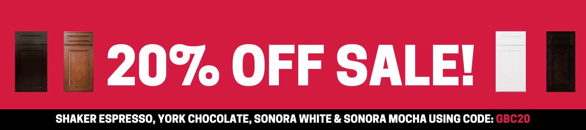 20% off sale- select cabinets