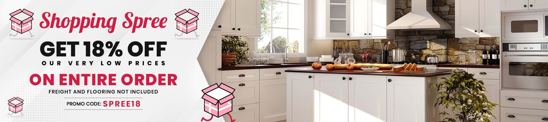 18% Off on all Cabinets