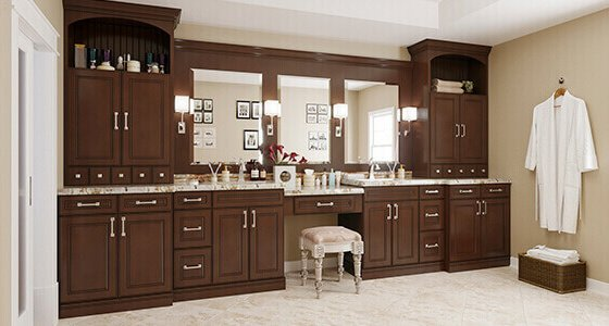 assembled bathroom cabinets